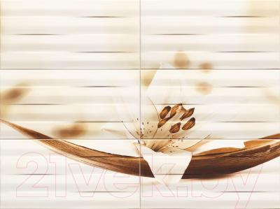 Декоративная плитка для ванной Tubadzin Панно Maxima Brown 2 (898x673)