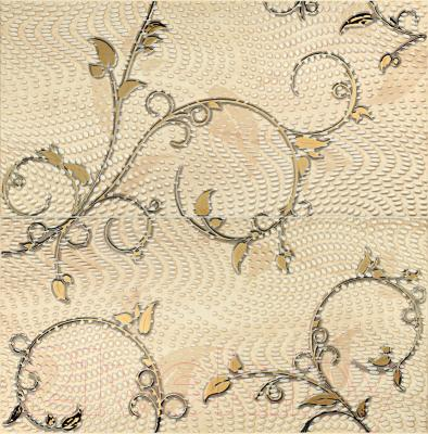 Декоративная плитка Tubadzin Панно Traviata Ornament (618x608)