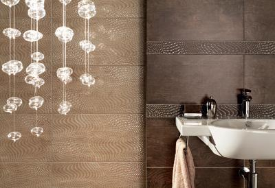 Плитка для пола ванной Tubadzin Traviata Brown (450x450)