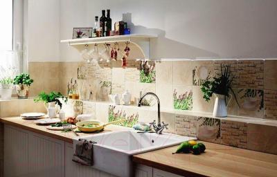 Плитка для стен кухни Tubadzin Samaria Jasno Bezowa (200x200)