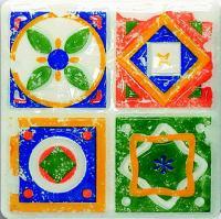 Декоративная плитка для кухни Tubadzin Majolika Quartet 1 (115x115) -