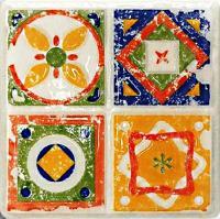 Декоративная плитка для кухни Tubadzin Majolika Quartet 2 (115x115) -