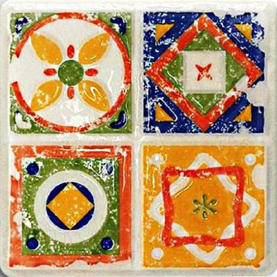 Декоративная плитка Tubadzin Majolika Quartet 2 (115x115)