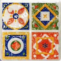 Декоративная плитка для кухни Tubadzin Majolika Quartet 3 (115x115) -