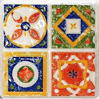Декоративная плитка Tubadzin Majolika Quartet 3 (115x115)