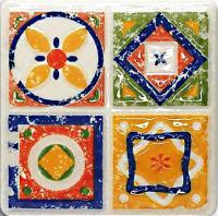 Декоративная плитка для кухни Tubadzin Majolika Quartet 4 (115x115) -