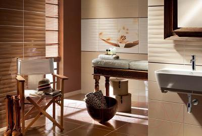 Бордюр для ванной Tubadzin Maxima Brown 2 (448x100)