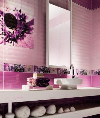 Бордюр для ванной Tubadzin Maxima Violet 2 (448x100)