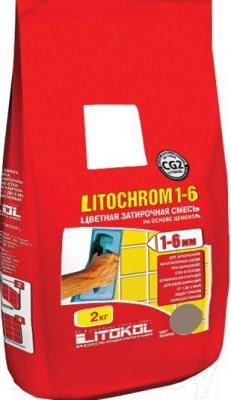 Фуга для плитки Litokol Litochrom 1-6 C.180 (2кг, розовый фламинго)