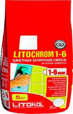 Фуга для плитки Litokol Litochrom 1-6 C.40 (5кг, антрацит)