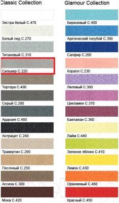 Фуга для плитки Litokol Litochrom Starlike C.220 (1кг, светло-серый) - палитра цветов