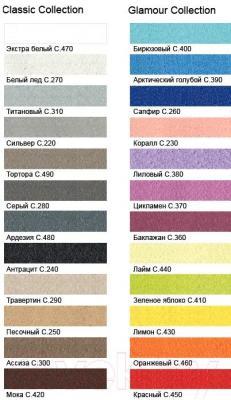 Фуга для плитки Litokol Litochrom Starlike C.380 (2.5кг, сиреневый) - палитра цветов