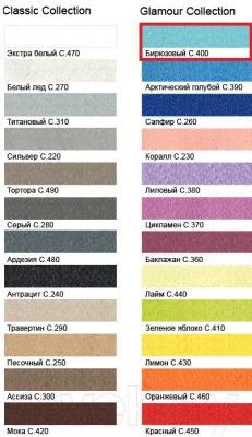 Фуга для плитки Litokol Litochrom Starlike C.400 (2.5кг, бирюзовый) - палитра цветов
