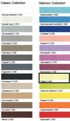 Фуга для плитки Litokol Litochrom Starlike C.440 (2.5кг, лайм) - палитра цветов