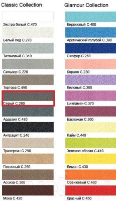 Фуга для плитки Litokol Litochrom Starlike C.280 (5кг, серый) - палитра цветов
