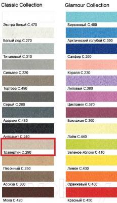 Фуга для плитки Litokol Litochrom Starlike C.290 (5кг, светло-бежевый) - палитра цветов