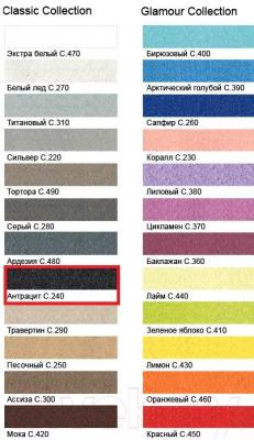 Фуга для плитки Litokol Litochrom Starlike C.240 (5кг, черный) - палитра цветов