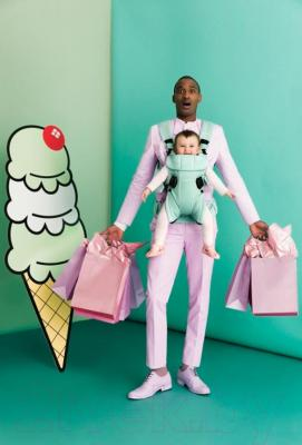 Эрго-рюкзак BabyBjorn One Cotton Mix Ice Cream 0910.85 (фисташковый)