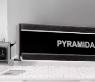 Вытяжка телескопическая Pyramida TL Glass 50 Inox Black/N