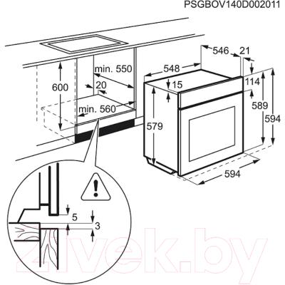 Электрический духовой шкаф Electrolux EOB95551AK