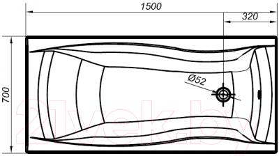 Ванна акриловая Cersanit Profea 150x70 (S301-151)