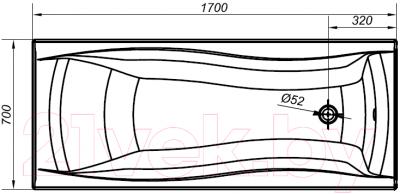 Ванна акриловая Cersanit Profea 170x70 (S301-153)