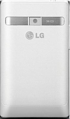 Смартфон LG Optimus L3 / E400 (серебристо-белый) - задняя панель