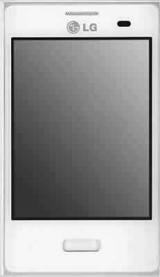 Смартфон LG Optimus L3 / E400 (серебристо-белый) - общий вид