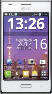 Смартфон LG E612 Optimus L5 White - общий вид
