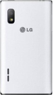 Смартфон LG E612 Optimus L5 White - задняя панель