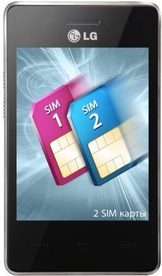 Мобильный телефон LG T370 Cookie Smart Black-Red - общий вид