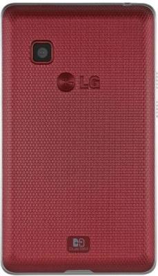 Мобильный телефон LG T370 Cookie Smart Black-Red - задняя панель