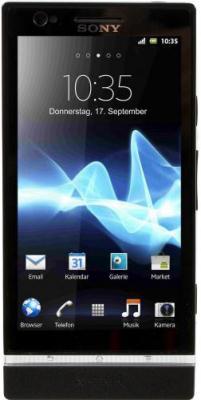 Смартфон Sony Xperia P (LT22i) Black - общий вид