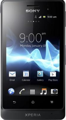 Смартфон Sony Xperia Go (ST27i) Black - общий вид