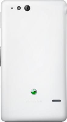 Смартфон Sony Xperia Go (ST27i) White - задняя панель