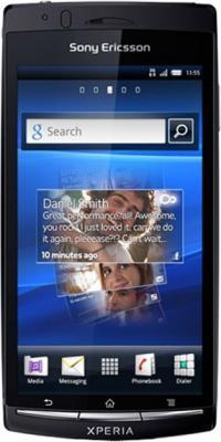 Смартфон Sony Xperia arc S (LT18i) Black - общий вид