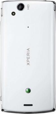 Смартфон Sony Xperia arc S (LT18i) White - задняя панель
