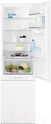 Холодильник с морозильником Electrolux ENN3153AOW - общий вид