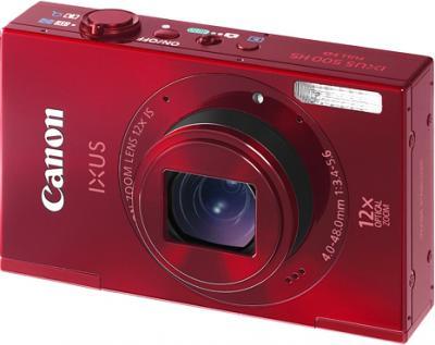 Компактный фотоаппарат Canon IXUS 500 HS Red - общий вид