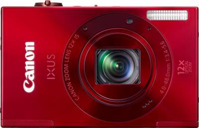 Компактный фотоаппарат Canon IXUS 500 HS Red - вид спереди