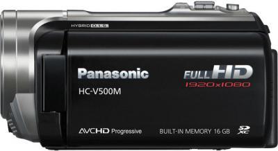 Видеокамера Panasonic HC-V500M (HC-V500MEE-K) - вид сбоку