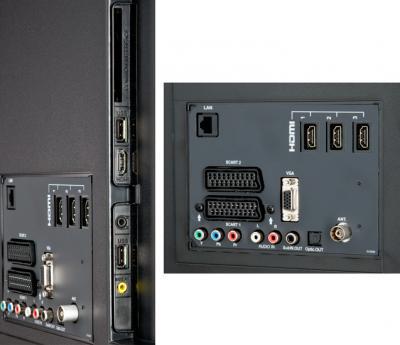 Телевизор Sharp LC-40LE340EV - входы/выходы