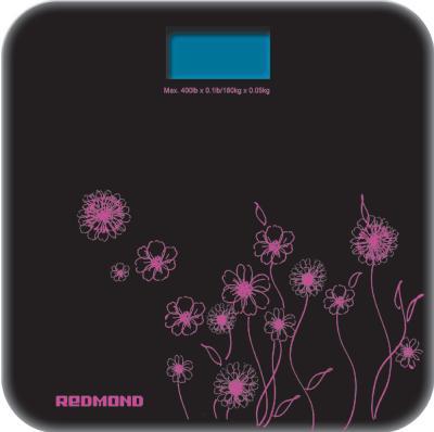 Напольные весы электронные Redmond RS-715 (черно-розовый) - общий вид