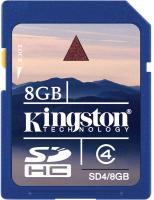 Карта памяти Kingston SDHC 8 Gb Class 4 (SD4/8GB) -