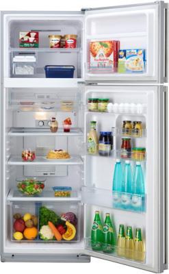 Холодильник с морозильником Sharp SJ-GC480VSL - с открытой дверью