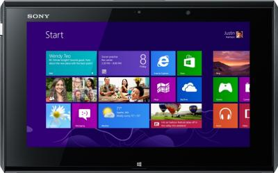 Ноутбук Sony VAIO SV-D1121X9R/B - фронтальный вид (планшет)