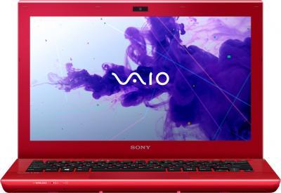 Ноутбук Sony VAIO SV-S1312E3R/R - фронтальный вид