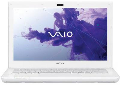 Ноутбук Sony VAIO SV-S1312E3R/W - фронтальный вид