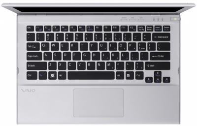 Ноутбук Sony VAIO SV-T1312L1R/S - вид сверху