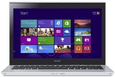 Ноутбук Sony VAIO SV-T1312M1R/S - фронтальный вид